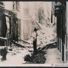 Militaria: CADIZ AGOSTO 1936 GUERRA CIVIL BOMBARDEO DE LA CIUDAD POR LA MARINA REPUBLICANA UNA CALLE FOTOGRAFIA. Lote 45618557