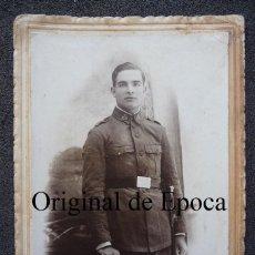 Militaria: (JX-1755)FOTOGRAFIA DE SOLDADO DE INFANTERIA,REG.Nº25,EPOCA ALFONSINA. Lote 45686116