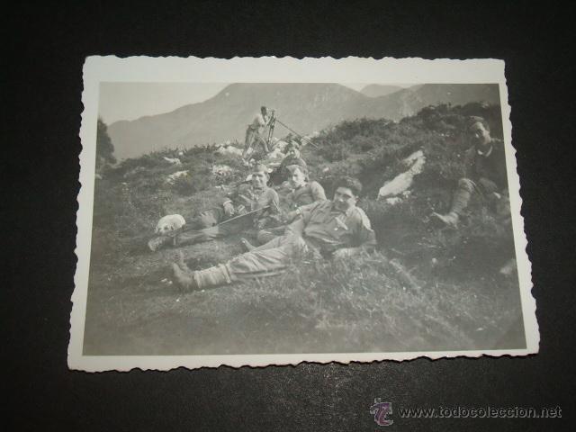CANGAS DE ONIS ASTURIAS GUERRA CIVIL 1937 SOLDADOS LEGION CONDOR FOTOGRAFIA LEGION CONDOR (Militar - Fotografía Militar - Guerra Civil Española)