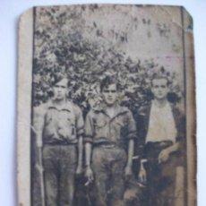 Militaria - GUERRA CIVIL: MINUTERO DE TRES MILICIANOS DE FALANGE. 1937 - 45724237