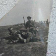 Militaria: FOTO ORIGINAL SOLDADOS GUERRA CIVIL,ROTA. Lote 45727875