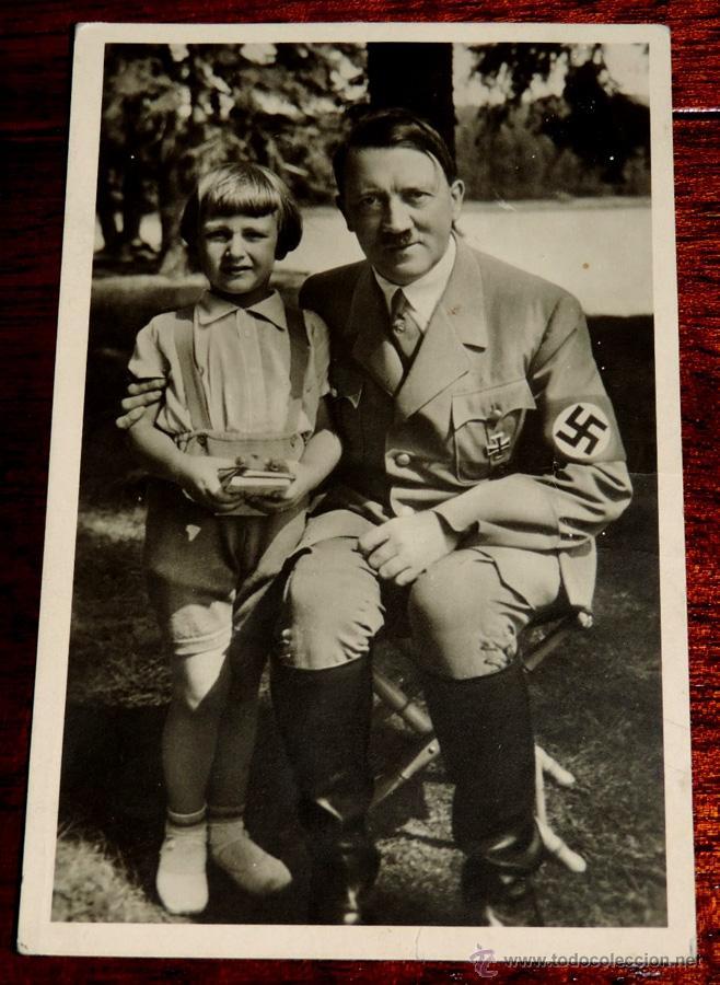 FOTOGRAFIA ANTIGUA DE ADOLF HITLER, PHOTO HOFFMANN, MUNCHEN, N. 226, TAMAÑO POSTAL, POR EL REVERSO E (Militar - Fotografía Militar - II Guerra Mundial)