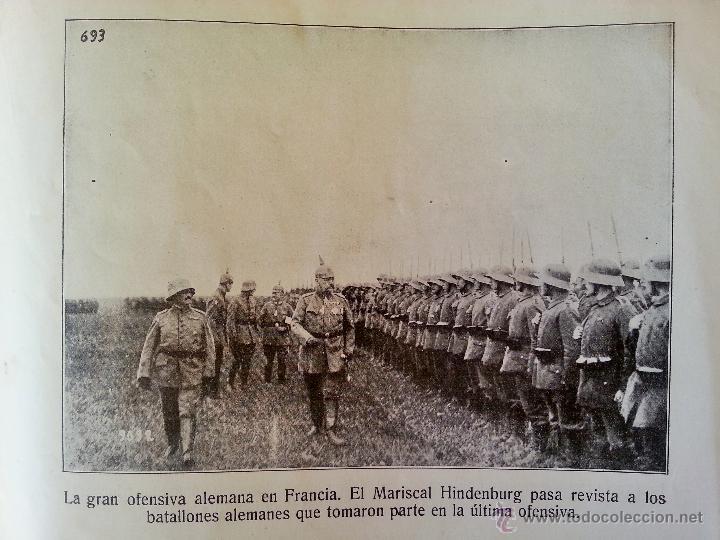 Militaria: INSTANTÁNEAS DE LA GUERRA 1918 Nº 4 32 LÁMINAS FOTOGRÁFICAS I GUERRA MUNDIAL - Foto 4 - 45843935