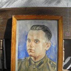 Militaria: CUADRO DE SOLDADO ALEMAN O AUSTRIACO - SEGUNDA GUERRA MUNDIAL - RETRATO WW2 - ORIGINAL DE EPOCA. Lote 45993346