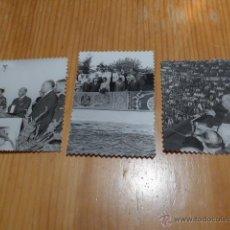 Militaria: LOTE DE 3 FOTOGRAFIAS ORIGINALES DE FRANSCISCO FRANCO. Lote 46039614