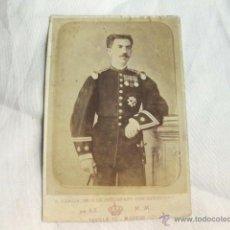 Militaria: FOTOGRAFIA DE UN CORONEL CONDECORADO DEL REGIMIENTO DE INFANTERIA DEL REY -. Lote 46093493