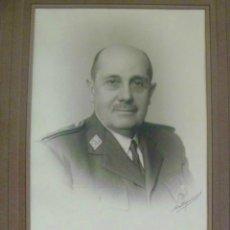 Militaria: RETRATO DEL GENERAL FIDEL DÁVILA , ORIGINAL DE CARTAGENA ( FIRMADO ) , MADRID. 18 X 24 CM... Lote 46099033