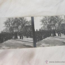 Militaria: FOTOGRAFIA ESTEREOSCOPICA DE UNA JURA DE BANDERA EN MADRID DEL REGIMIENTO INMEMORIAL DEL REY. Lote 46101312