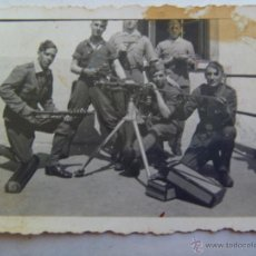 Militaria: GUERRA CIVIL : MILICIANOS CON AMETRALLADORA HOTCHKISS , PISTOLA , ETC. Lote 46120503