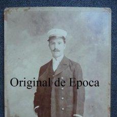 Militaria: (JX-1850)FOTOGRAFIA DE OFICIAL DE MARINA,REALIZADA EN BARCELONA. Lote 46199069