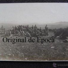Militaria: (JX-1854)FOTOGRAFIA DE OFICIALES DESCANSANDO,CAMPAÑA DE AFRICA,ARCHIVO PUMAROLA. Lote 46207275