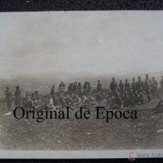 Militaria: (JX-1854)FOTOGRAFIA DE OFICIALES DESCANSANDO,CAMPAÑA DE AFRICA,ARCHIVO PUMAROLA. Lote 46207302