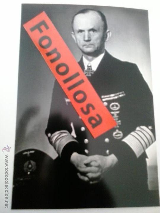 FASCIMIL DE KARL DONITZ 13X18 CMS (Militar - Fotografía Militar - II Guerra Mundial)