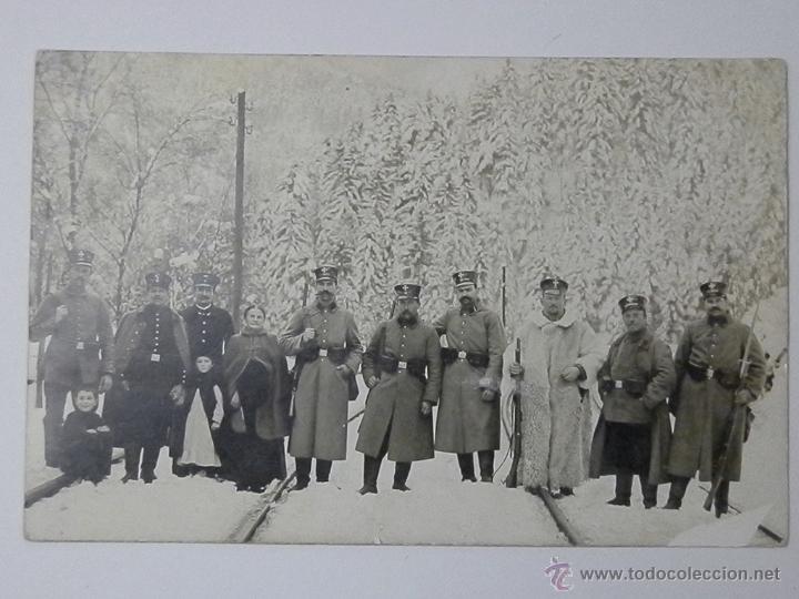1915 - SOLDADOS PRUSIANOS ARMAS EN LA SELVA NEGRA - HORNBERG - FOTO, FOTOGRAFIA (Militar - Fotografía Militar - I Guerra Mundial)