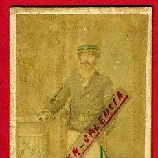 Militaria: FOTO MILITAR, FOTOGRAFIA MESTRE, POSIBLEMENTE GUERRA DE CUBA ,TARJETA VISITA, ORIGINAL,L. Lote 46316817