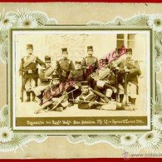 Militaria: FOTO MILITAR, MILITARES ,FOTOGRAFIA REGIMIENTO SAN QUINTIN FIGUERAS 1911 , ALBUMINA ,ORIGINAL,L. Lote 46317405