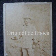 Militaria: (JX-1922)FOTOGRAFIA DE CAPITAN , CAMPAÑA DE CUBA ,REALIZADA EN OTERO Y COROMINAS , LA HABANA. Lote 46374325