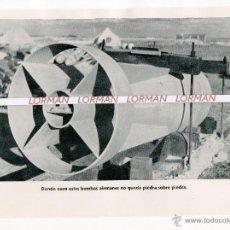 Militaria: LAMINA FOTOGRAFICA PROPAGANDA ALEMANA II GUERRA MUNDIAL BOMBAS ALEMANAS - ORIGINAL -. Lote 46392859