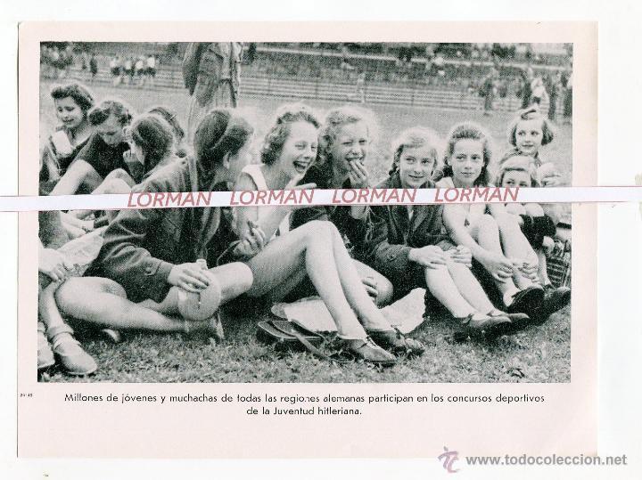 LAMINA FOTOGRAFICA PROPAGANDA ALEMANA II GUERRA MUNDIAL JUVENTUD HITLERIANA- ORIGINAL - (Militar - Fotografía Militar - II Guerra Mundial)