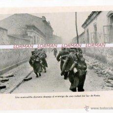 Militaria: LAMINA FOTOGRAFICA PROPAGANDA ALEMANA II GUERRA MUNDIAL AVANZADILLA EN EL SUR DE RUSIA - ORIGINAL -. Lote 46394352