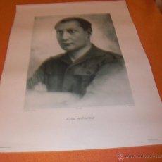 Militaria: JOSE ANTONIO PRIMO DE RIBERA RETRATO OFICIAL MEDIDAS 76 X 50 CMS.. Lote 46369964
