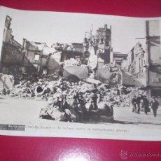 Militaria: FANTASTICA FOTO ORIGINAL PARIS-SOIR GUERRA CIVIL 20X15 CM BOMBARDEO MALAGA ANDALUCIA. Lote 46432798