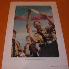 Militaria: POSTER FOTOGRAFICO PROPAGANDA ALEMANA II GUERRA MUNDIAL ¡JUVENTUD ALEMANA.... ORIGINAL. Lote 46433810