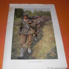Militaria: POSTER FOTOGRAFICO PROPAGANDA ALEMANA II GUERRA MUNDIAL AVANCE DE LA INFANTERIA ALEMANA ORIGINAL. Lote 46434375