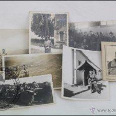 Militaria: CONJUNTO DE 7 FOTOGRAFÍAS MILITARES - AÑOS 50 - BELLVER, LÉRIDA / LLEIDA, CATALUÑA - 10 X 7 CM. Lote 46447718