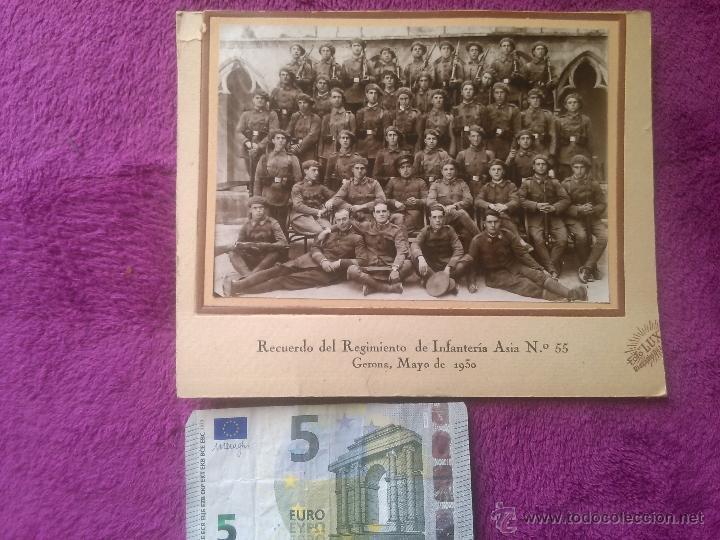 GERONA 1930. MILITARES. REGIMIENTO DE INFANTERÍA ASIA 55 (Militar - Fotografía Militar - Otros)