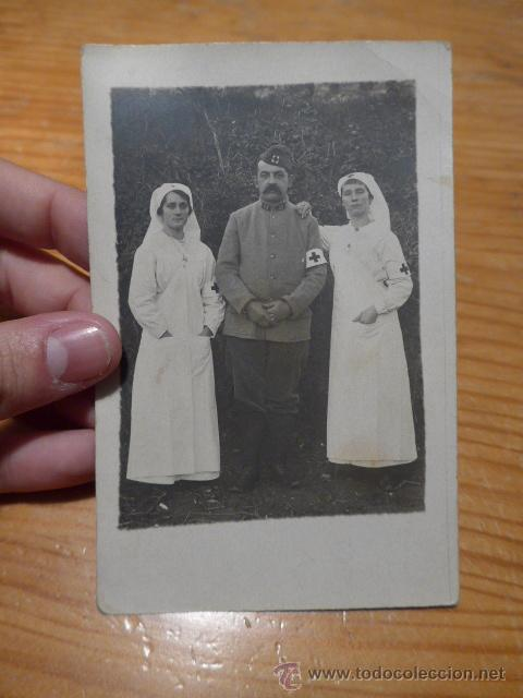ANTIGUA FOTOGRAFIA POSTAL DE MEDICO Y ENFERMERA DE PRIMERA GUERRA MUNDIAL, FRANCIA, SANIDAD (Militar - Fotografía Militar - I Guerra Mundial)