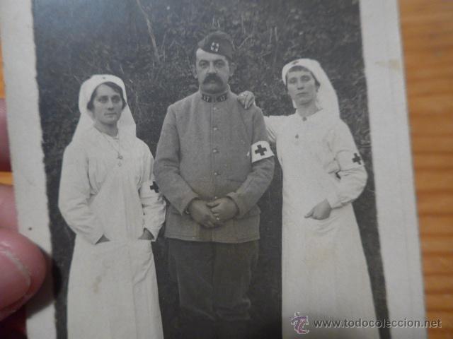 Militaria: Antigua fotografia postal de medico y enfermera de primera guerra mundial, Francia, sanidad - Foto 2 - 47189526