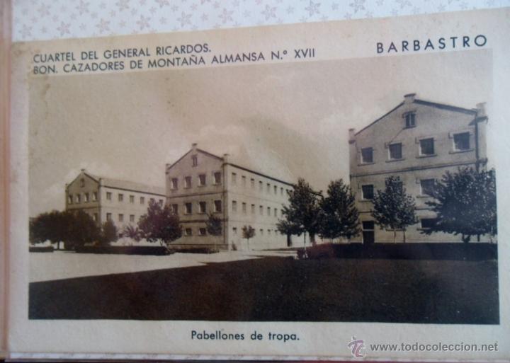 CUARTEL DEL GENERAL RICARDOS- BARBASTRO. (Militar - Fotografía Militar - Otros)