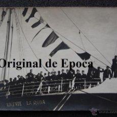 Militaria: (JX-2061)FOTOGRAFIA DEL BARCO VICENTE LA RODA,PARTIENDO CON SOLDADOS DE BARCELONA-MELILLA,21-1-1920. Lote 47506671