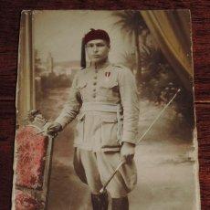 Militaria: ANTIGUA FOTOGRAFIA MILITAR DE SOLDADO REGULAR DEL EJERCITO ESPAÑOL, FOTO DIODORO, LARACHE ALCAZAR, T. Lote 47704459