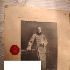 Militaria: FOTOGRAFIA ORIGINAL CARTON MILITAR OFICIAL HISTORIA GUARDIA CIVIL FOTOGRAFO CASA REAL FECHADA 1912. Lote 34405923