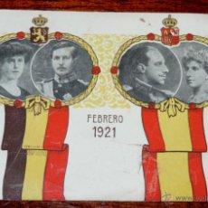 Militaria: POSTAL DE LOS REYES DE ESPAÑA ALFONSO XIII Y VICTORIA EUGENIA JUNTO CON LOS REYES DE BELGICA ALBERTO. Lote 47932369