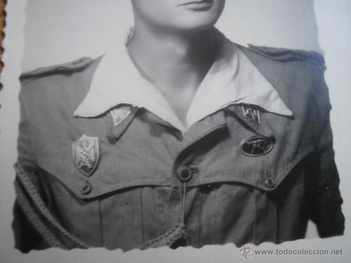 Militaria: Fotografía alférez del ejército español. Milicias Universitarias IPS 1951 - Foto 3 - 47936881