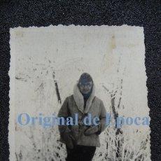 Militaria: (JX-2151)FOTOGRAFIA DEL CAPELLAN 1º,CAPITAN CASTRENSE D.JOSE Mª.VIVES GODALL,DIVISION AZUL,PORCHOW. Lote 48020756