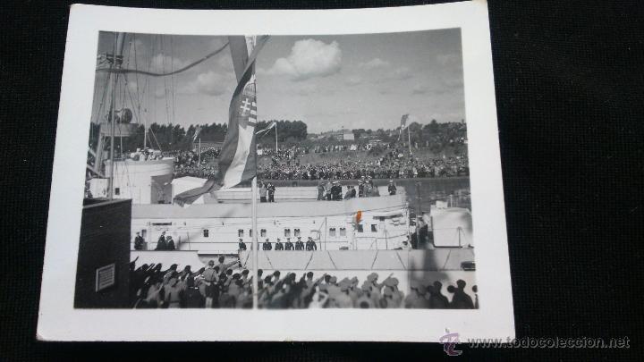 FOTO ORIGINAL ADOLF HITLER INAGURACION BUQUE ALEMAN (Militar - Fotografía Militar - II Guerra Mundial)