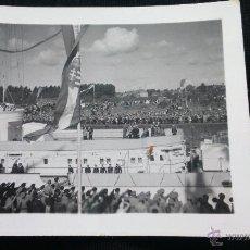 Militaria: FOTO ORIGINAL ADOLF HITLER INAGURACION BUQUE ALEMAN. Lote 48161445