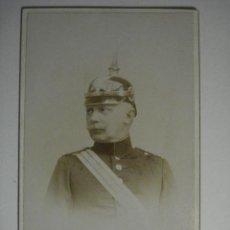 Militaria: ALEMANIA GERMANY KRAMENZ BONITA FOTOGRAFIA MILITAR EN CARTULINA DURA - AÑOS 1880-1910. Lote 48408334