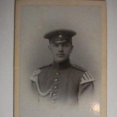 Militaria: ALEMANIA GERMANY LEIPZIG BONITA FOTOGRAFIA MILITAR EN CARTULINA DURA - AÑOS 1880-1910. Lote 48408346