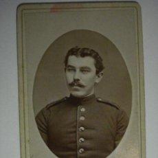 Militaria: ALEMANIA GERMANY CHEMNITZ BONITA FOTOGRAFIA MILITAR EN CARTULINA DURA - AÑOS 1880-1910. Lote 48408356