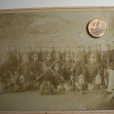 Militaria: ALEMANIA GERMANY BONITA FOTOGRAFIA MILITAR EN CARTULINA DURA - TAMAÑO GRANDE - AÑOS 1880-1910. Lote 48408404