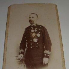 Militaria: ANTIGUA FOTOGRAFÍA MILITAR. S.XIX. ALBUMINA. FOTOGRAFO T. MOLINA - CORDOBA (16 CM X 10 CM). Lote 48522137