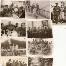 Militaria: MELILLA. MILITARES. AÑOS 1943-44-45. LOTE DE 11 FOTOS. Lote 48634338
