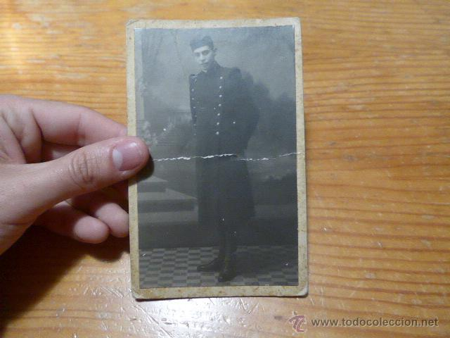 ANTIGUA FOTOGRAFIA DE MILITAR ESPAÑOL, EN ZARAGOZA 1925 (Militar - Fotografía Militar - Otros)