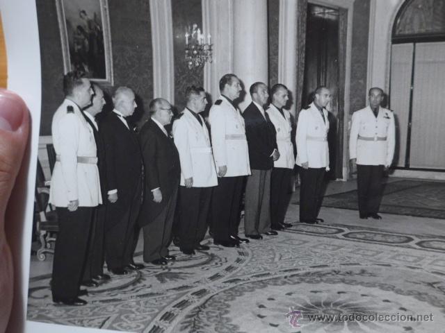 Militaria: Antigua gran fotografia de Franco con jefes falange, original, foto carlos perez de rozas - Foto 3 - 48697501