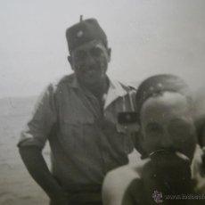 Militaria: FOTOGRAFÍA COMANDANTE PROVISIONAL REGULARES. GUERRA CIVIL. Lote 48712348